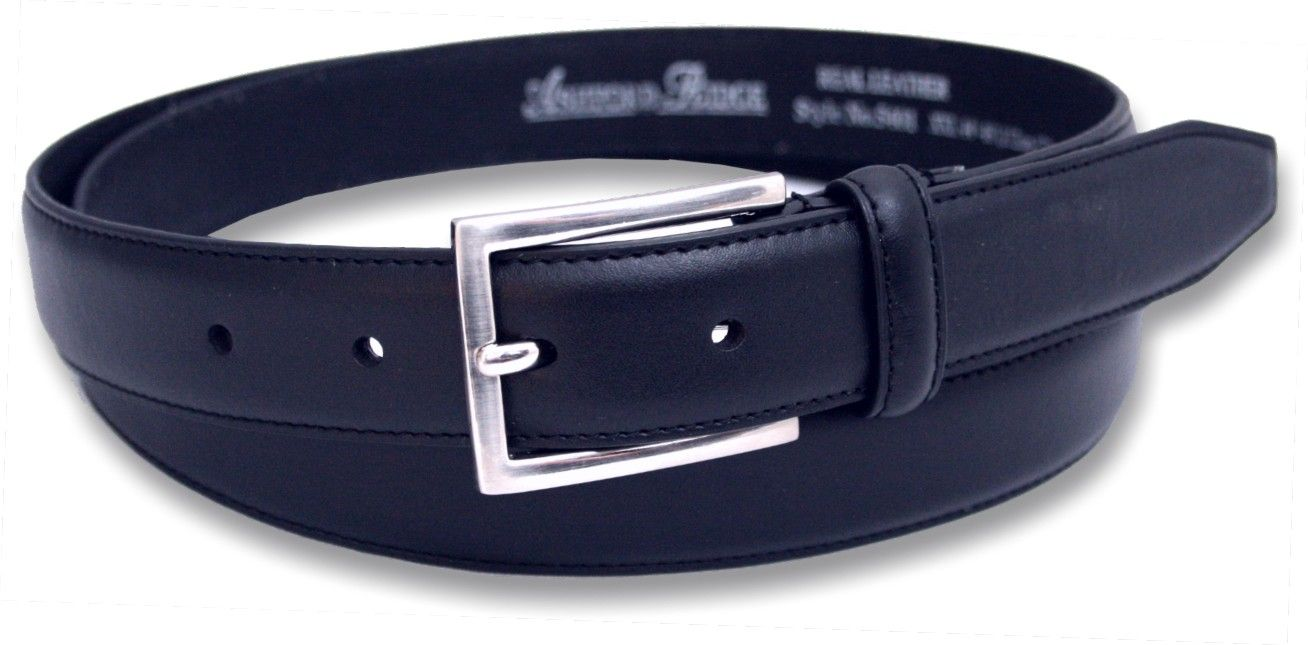 mens navy 1 25 coated leather feather stitched suit belt