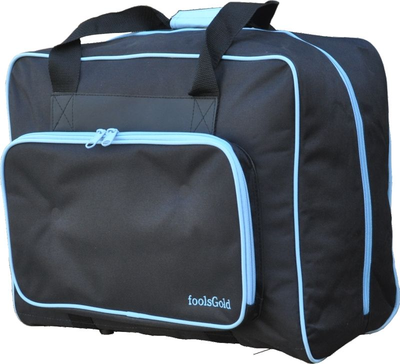 foolsGold Thick Padded Sewing Machine Bag in Black/Blue