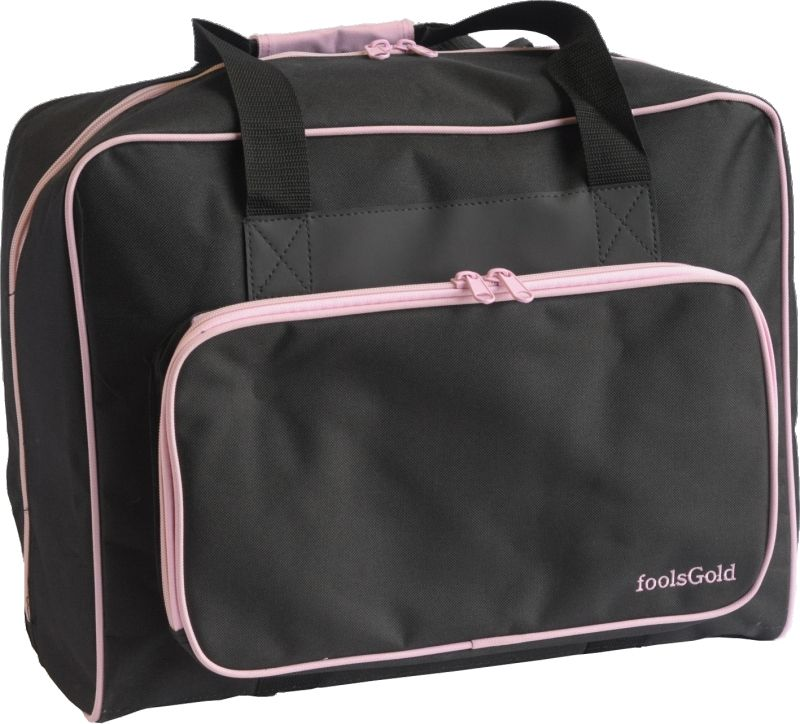 foolsGold Thick Padded Sewing Machine Bag in Black/Pink