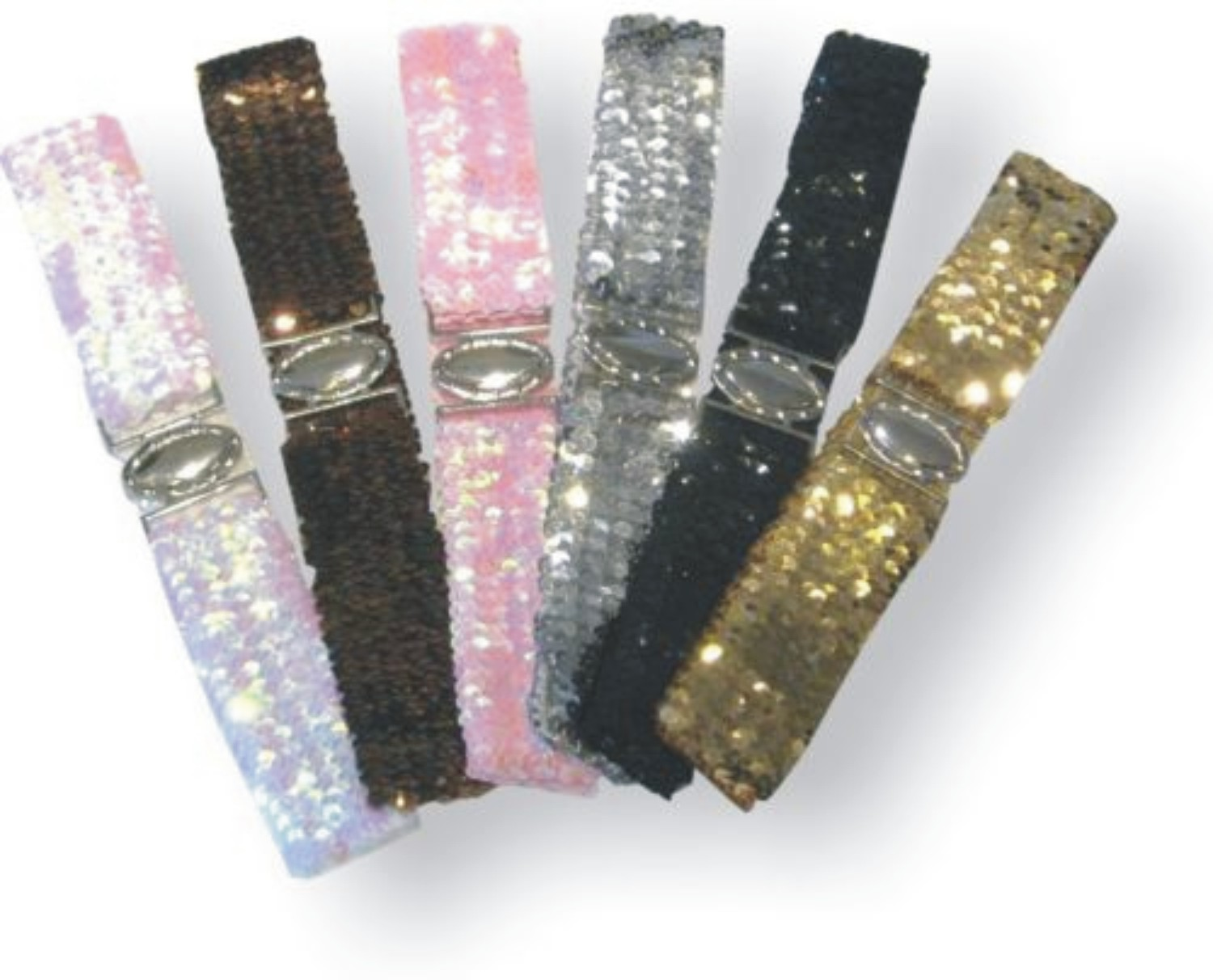 035ef6fa124 Ladies Girls Elastic Sequin Belts
