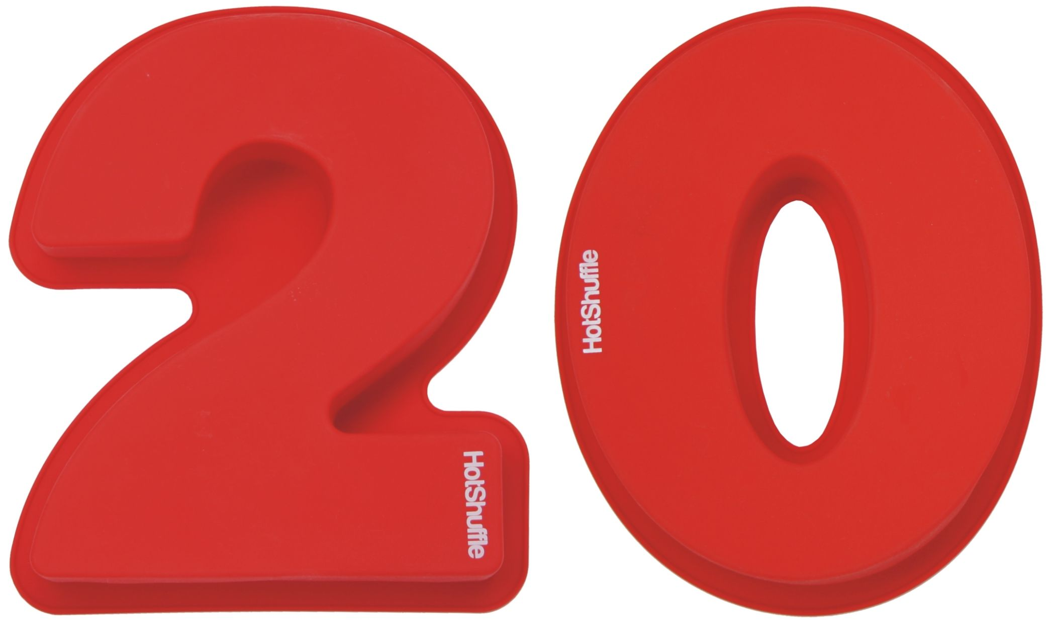Large 30cm Silicone Number 20 20th Wedding Anniversary ...20