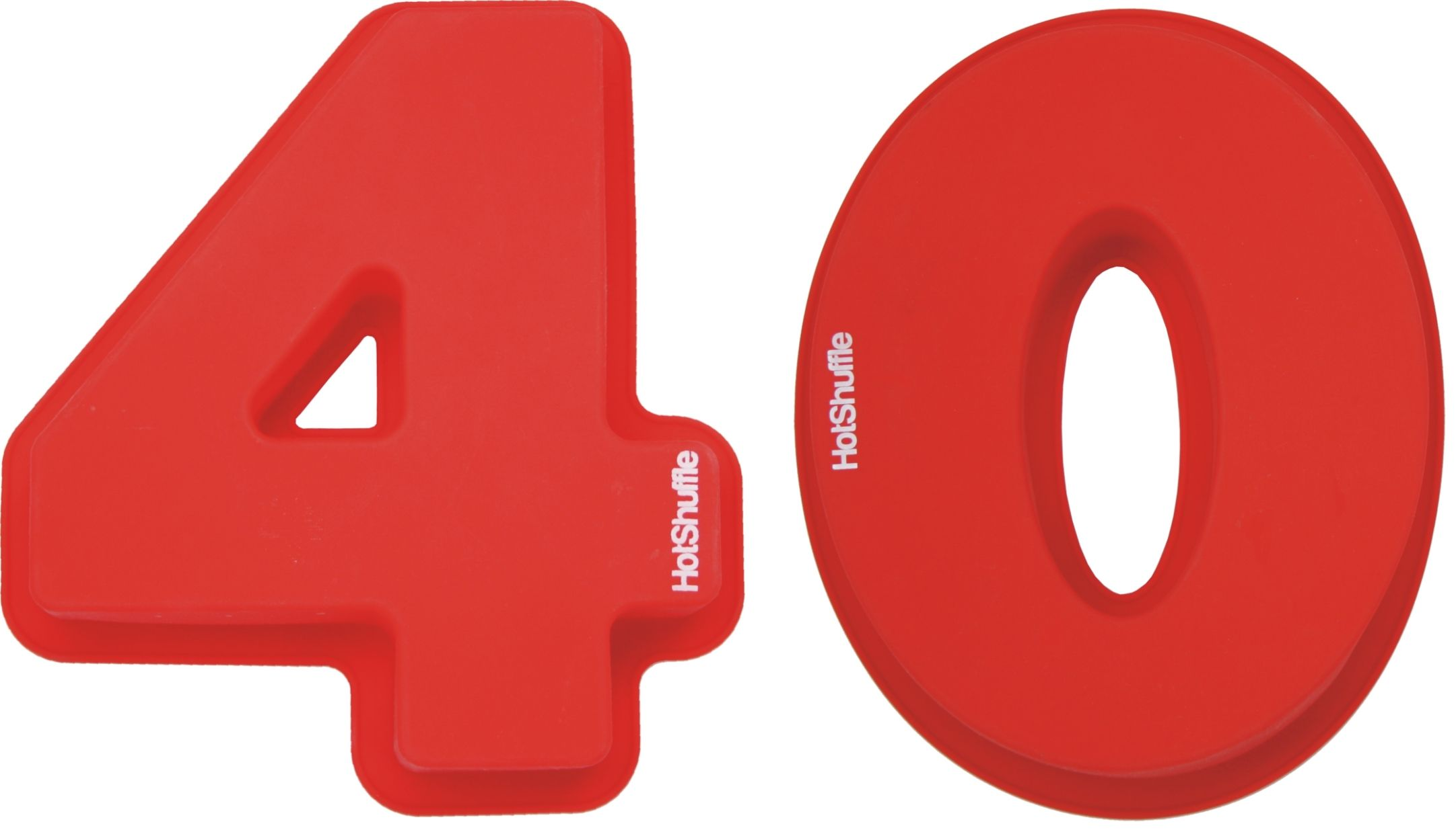 Large 30cm Silicone Number 40 40th Birthday Ruby Wedding Anniversary