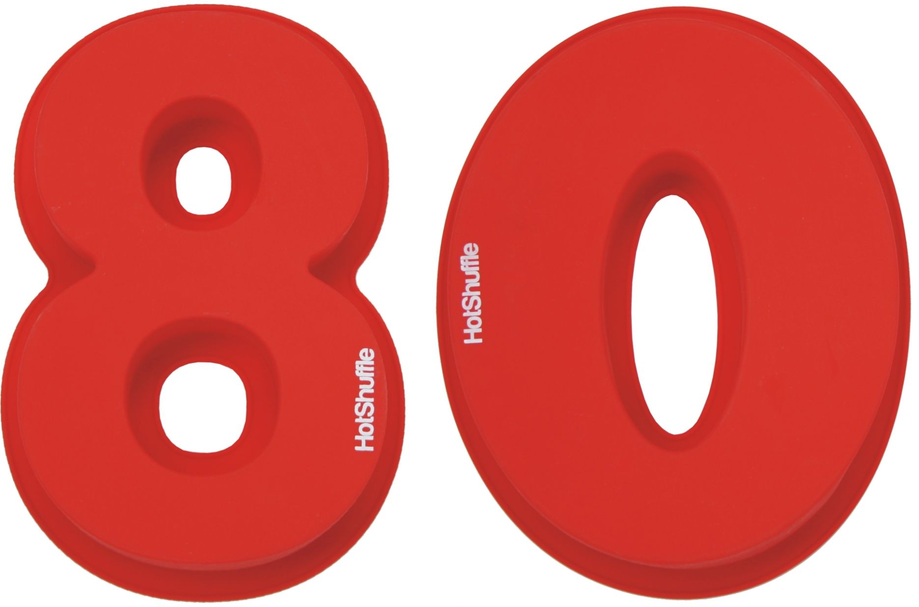 Large 30cm Silicone Number 80 80th Birthday Cake Mould Tin Set