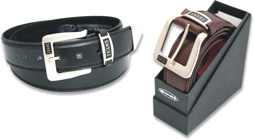 Ossi 38mm Leather Lined Jeans Belt in Gift Box (2 Colours)