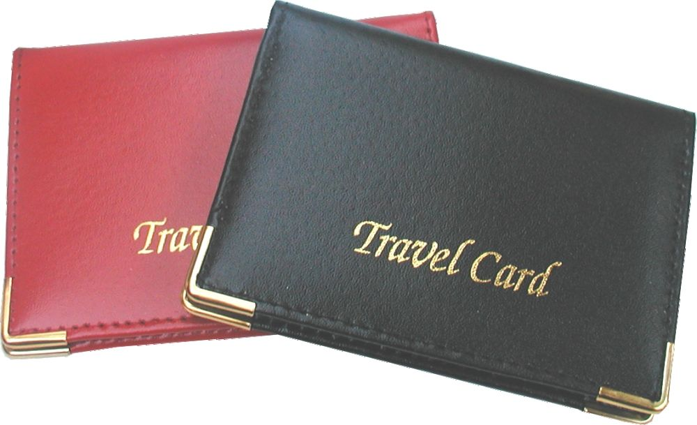 Real Leather Travel Card Bus Pass/Oyster Card Cover